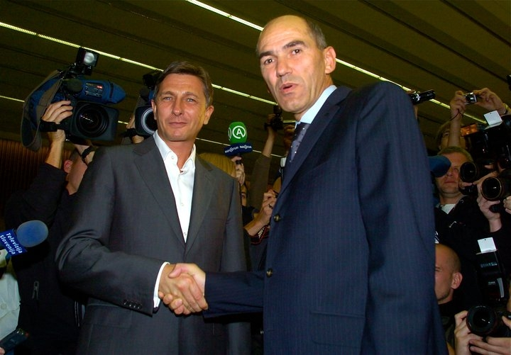 Borut Pahor in Janez Janša