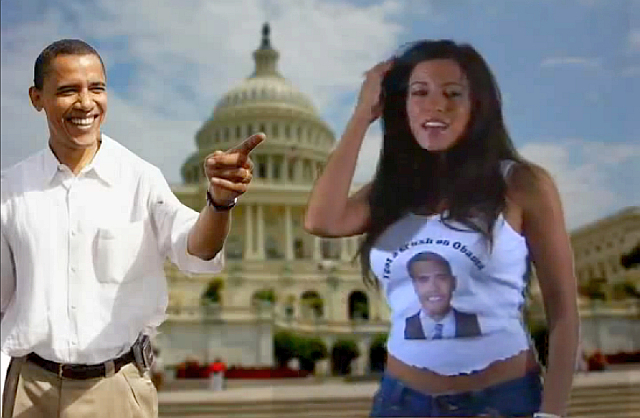 Barack Obama in Amber Lee Ettinger