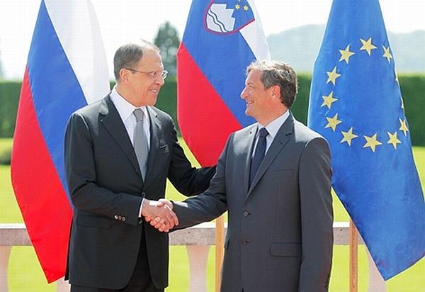 Sergej Lavrov in Karl Erjavec