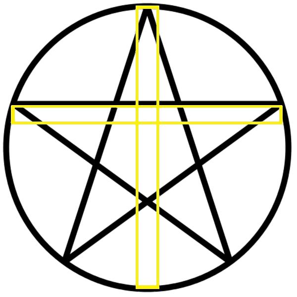 zdruzena_cerkveni_kriz_in_pentagram